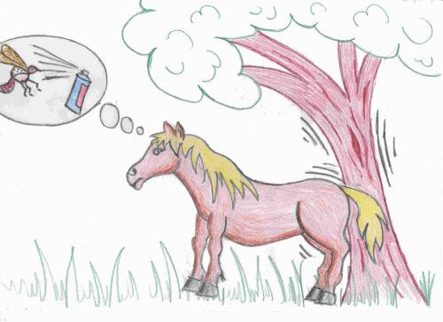 Was ist Dermatitis bei Pferden?
